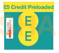EE Pay as you go Trio Roaming Sim card, Preloaded with £5 Credit, Fast&Free