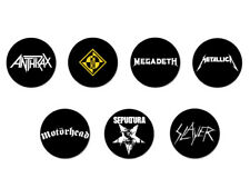 Lot Pack Badge Button Pins Ø38mm Logo Thrash Metal Bands Groupe