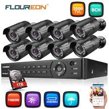 1TB HDD CCTV 8CH 1080N DVR 3000TVL 8x Cámaras Seguridad Sistema Video Vigilancia