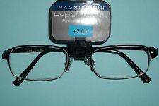 Foster Grant Magnivision Hyperflexx Blk 1/2 Metal Frame Reading Glasses +2.00 58