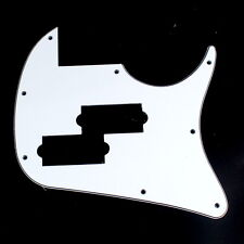 Custom Guitar Pickguard fits IBANEZ TR50 Bass style ,3ply White