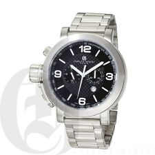 Charles Hubert Mens Chronograph Quartz Watch Stainless Steel Sports 3762