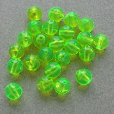 8mm 200 Count Round Fluorescent GREEN Beads USA Fishing Tackle Free Shipping