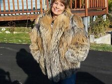 Womans Silver Tip Fox Coat