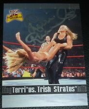 Terri Runnels Signed WWE WWF 2001 Fleer Ultimate Diva Collection Card #85 Auto'd