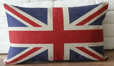 Rectangular Cotton Linen Cushion with insert - Union Jack British National Flag