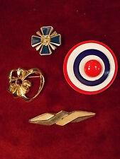 Sandstone Cross, Captain America, Heart Lot #12 Estate Liquidation Brooches/Pins