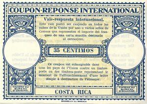 COSTA RICA - International Reply Coupon - 35 CENTIMOS - London model - MNH