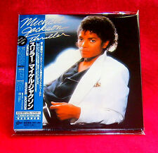 MICHAEL JACKSON THRILLER JAPAN AUTHENTIC MINI LP CD NEW OUT OF PRINT EICP-1195