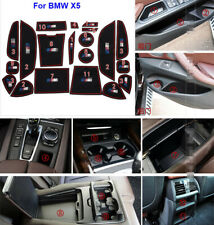 For BMW X5 2014-2016 Car interior Anti-Slip Mat Auto Cup Holder Gate slot pad