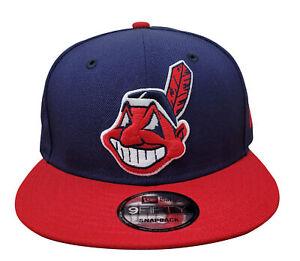New Era 9Fifty Light Navy/Scarlet MLB Cleveland Indians Custom Snapback