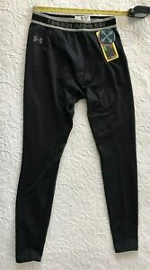 mens under armour cold gear base layer leggings FITTED black LARGE NWT