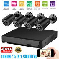 Waterproof 5IN1 1080N Video DVR Recorder 1080P 3000TVL CCTV Cameras Invisible IR