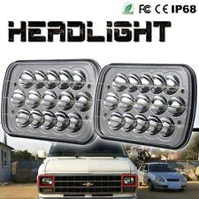 2x 7x6 15-LED WHITE HEADLIGHT H4 BULBS CRYSTAL CLEAR HEADLAMP FOR 4RUNNER XJ YJ