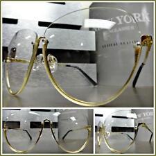 Women's CLASSIC VINTAGE RETRO Style Clear Lens EYE GLASSES Gold Fashion Frame
