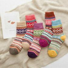 5 Paar Damen Norweger Hygge Socken Wolle Baumwolle bunt weich Gr. 35 - 42 neu