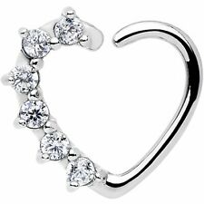 Right Closure Daith Cartilage Tragus . Body Candy Women's 16 Gauge Clear Heart