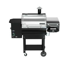 Electrical Wood Pellet Grill Stainless Steel Cart Style Bbq Sear Box Four Wheels