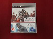Ubisoft paquete doble: Assassin's Creed 1 & 2-Playstation 3 PS3-Buen Estado