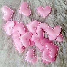 100 X chispas en forma de corazón tela Pétalo de boda Suministros Mesa Cama Decoración Rosa