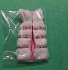 MOD Era Barbie 3439 Saint Moritz / Primi Freddi White Fur Long Vest, Pink Lining