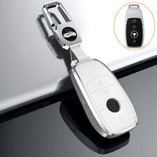 Auto Schlüssel Hülle für Mercedes-Benz A C S E Klasse Anhänger Schutz Cover Weiß