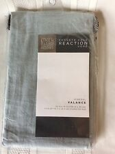 New Kenneth Cole Reaction Stone Washed Linen Window Valance~ Stoney Blue