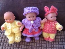 XX PATTERNS ONLY XX. KNITTING PATTERN FOR A BERENGUER 5 Inch OR SIMILAR