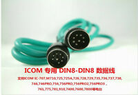 DIN8 to DIN8  8pin-8pin data cable For ICOM Radio 761,775,781,910,7400,7600,7800