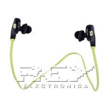 Auriculares BLUETOOTH 4.0 Manos Libres Deportivos Color Negro-Verde Nuevo d19