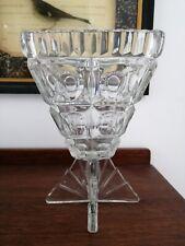 Fiegl Libochovice Rocket Clear Glass Czech   Vase Art Deco Stand Bubble Lens