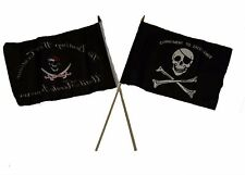 "12x18 12""x18"" Wholesale Combo Pirate Beatings Morale & Commitment Stick Flag"