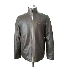 Marc New York Men Size M Brown Genuine Lather Aviator Jacket Model Norman