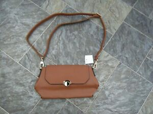 Ladies ~ Brown Faux Leather Cross Body Bag ~ NWT