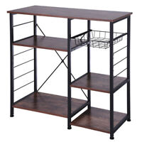 3/4-Tier Kitchen Baker'S Rack Utility Microwave Oven Stand Storage Cart 4 Colors