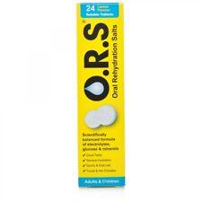 ORS Oral Rehydration Salt Lemon 24 Tablets