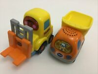 Vtech Go! Go! Smart Wheels Interactive Vehicles Forklift Dump Truck Lot Of 2