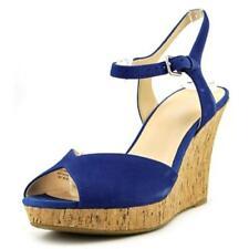 Sandalias y chanclas de mujer de tacón alto (más que 7,5 cm) de color principal azul Talla 38