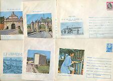 Romania 1975, 6 Unused Stationery Pre-Paid Envelopes Covers #C21421