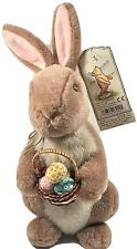Gund Disney Classic Pooh Plush Easter Bunny Rabbit Basket with Colorful Eggs