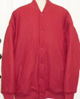 Make Your Mark Men's Red Varsity Style Lined & Quilted Jacket Coat 4XL
