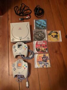 Sega Dreamcast Console with Controllers and Games