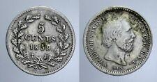 5 CENTS 1859 WILLEM III OLANDA