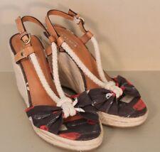 Coach Womens Catalina Heels Size 6 M Open-toe Espadrille Wedge Sandal Shoe