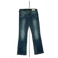 PEPE JEANS Banji Damen straight leg fit stretch Hose knack Po W27 L34 blau NEU