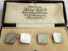 Vintage Antique Art Deco Mother of Pearl Cufflinks