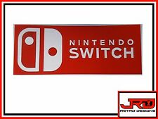 Nintendo Switch Vinyl Sticker in Red and White