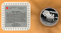 CANADA PROOF 1992 .925 STERLING SILVER DOLLAR Stagecoach IN CAPSULE & COA