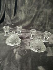 New ListingVintage Glass Double Candle Holders