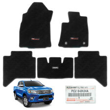 Floor Mat Shape Black Genuine 5Pc For Toyota REVO 4DR Auto RH Driver 2015 - 2017